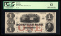 Obsoletes By State:Connecticut, Rockville, CT- Rockville Bank $1 G2 Proof. ...