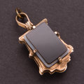 Estate Jewelry:Pendants and Lockets, Gold Sardonyx & Quartz Pendant. ...