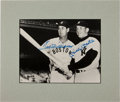 Baseball Collectibles:Photos, Ted Williams and Mickey Mantle Multi Signed Photograph....
