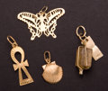 Estate Jewelry:Other , Four Gold Charms. ... (Total: 4 Items)