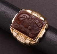 Gent's Gold Carved Ring
