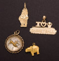 Estate Jewelry:Other , Four 14k Gold Charms. ... (Total: 4 Items)