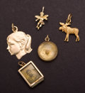 Estate Jewelry:Other , Five Gold Charms. ... (Total: 5 Items)