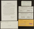 """Football Collectibles:Others, 1961 NFL Championship Game and 1967 Super Bowl I """"Prize Pool"""" Documents from Green Bay Packers Assistant Coach Red Cochran...."""