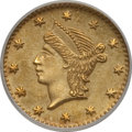 California Fractional Gold: , Undated 25C Liberty Round 25 Cents, BG-222, R.2, MS64 NGC. NGCCensus: (21/11). PCGS Population (105/16). (#10407)...