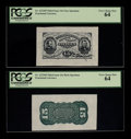 Fractional Currency:Third Issue, Fr. 1272SP 15¢ Third Issue Wide Margin Pair PCGS Very Choice New 64.. ... (Total: 2 notes)