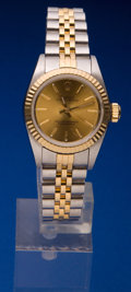 Timepieces:Wristwatch, Rolex Lady's Steel & Gold Oyster Perpetual, circa 1995. ...