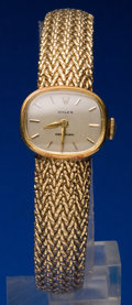 Timepieces:Wristwatch, Rolex 14k Gold Bracelet Watch. ...