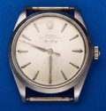 Timepieces:Wristwatch, Rolex Ref. 5500 Gent's Steel Air King, circa 1964. ...