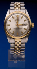 Timepieces:Wristwatch, Rolex Ref. 1600 Early Two Tone Gent's Watch, circa 1969. ...