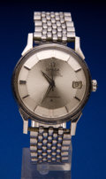 Timepieces:Wristwatch, Omega Steel Constellation With Band. ...