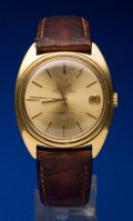 Timepieces:Wristwatch, Omega 18k Gold Constellation. ...