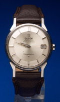 Timepieces:Wristwatch, Omega Steel Constellation Pie Pan Dial. ...