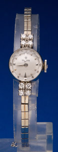 Timepieces:Wristwatch, Rolex 14k White Gold Watch With Diamonds. ...