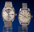 Timepieces:Wristwatch, Two Omega Automatic Wristwatches Runners. ... (Total: 2 Items)
