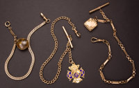 Three Gold Filled Watch Chains & Fobs