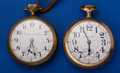 Timepieces:Pocket (post 1900), Two Hamilton's One Is 940 & Hamilton 21 Jewel 18 Size Pocket Watches Runners. ... (Total: 2 Items)