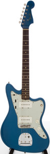 Musical Instruments:Electric Guitars, 1963 Fender Jazzmaster Lake Placid Blue Solid Body Electric Guitar,Serial # L01350....