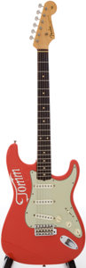 Musical Instruments:Electric Guitars, 1962 Fender Stratocaster Fiesta Red Solid Body Electric Guitar, Serial # 84684....