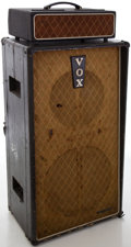 Musical Instruments:Amplifiers, PA, & Effects, Circa 1963 Vox T-60 Guitar Amplifier Head and Cabinet....