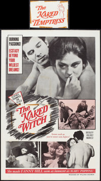 """The Naked Witch and Other Lot (William Mishkin Motion Pictures Inc., R-1967). One Sheets (2) (27"""" X 41"""" and 28..."""