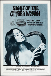 "Night of the Cobra Woman and Other Lot (New World, 1972). One Sheets (2) (27"" X 41""). Horror. ... (Total: 2 It..."