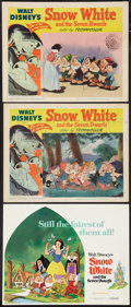 """Movie Posters:Animation, Snow White and the Seven Dwarfs (RKO, R-1951 and Buena Vista,R-1975). Title Lobby Card and Lobby Cards (2) (11"""" X 14""""). Ani...(Total: 3 Items)"""