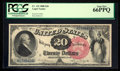 Large Size:Legal Tender Notes, Fr. 135 $20 1880 Legal Tender PCGS Gem New 66PPQ.. ...