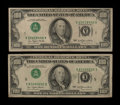 Error Notes:Inverted Third Printings, Fr. 2168-A $100 1977 Federal Reserve Note. Very Fine;. Fr. 2168-E$100 1977 Federal Reserve Note. Very Fine.. ... (Total: 2 notes)