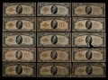 Small Size:Gold Certificates, Fr. 2400 $10 1928 Gold Certificates. Fifteen Examples. Good-Fine.. ... (Total: 15 notes)