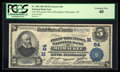 National Bank Notes:Wisconsin, Milwaukee, WI - $5 1902 Plain Back Fr. 598 First Wisconsin NB Ch. # (M)64. ...