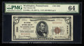 National Bank Notes:Pennsylvania, Washington, PA - $5 1929 Ty. 1 The Citizens NB Ch. # 3383. ...