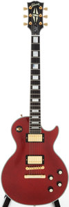 Musical Instruments:Electric Guitars, 2008 Gibson Les Paul Custom Red Sparkle Solid Body Electric Guitar, Serial # CS84623....