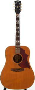 Musical Instruments:Acoustic Guitars, Mid 1960s Gibson Country Western Natural Acoustic Guitar, Serial # 512078....