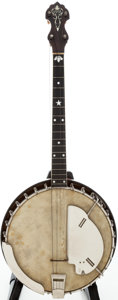 Musical Instruments:Banjos, Mandolins, & Ukes, 1924 Vega Model Style M Natural Tenor Banjo, Serial # 56153....