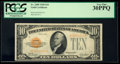 Small Size:Gold Certificates, Fr. 2400 $10 1928 Gold Certificate. PCGS Very Fine 30PPQ.. ...