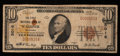 National Bank Notes:Oklahoma, Wagoner, OK - $10 1929 Ty. 1 The First NB Ch. # 5016. ...