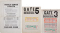 Baseball Collectibles:Others, 1938 & 1945 Chicago Cubs World Series Gate Signs with TicketProofs....