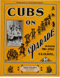 "Baseball Collectibles:Others, 1907 ""Cubs on Parade"" Rare Sheet Music...."