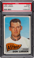 Baseball Cards:Singles (1960-1969), 1965 Topps Don Larsen #389 PSA Gem Mint 10....