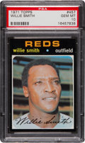 Baseball Cards:Singles (1970-Now), 1971 Topps Willie Smith #457 PSA Gem Mint 10 - A Pop Two ConditionRarity! ...
