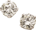 Estate Jewelry:Earrings, Diamond, Platinum, Gold Earrings. ...