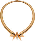 Estate Jewelry:Necklaces, Retro Diamond, Platinum-Topped Gold Necklace, French. ...