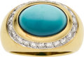 Estate Jewelry:Rings, Turquoise, Diamond, Gold Ring, Tiffany & Co.. ...