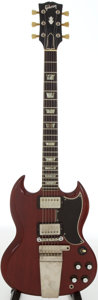 Musical Instruments:Electric Guitars, 1964 Gibson SG Standard Cherry Solid Body Electric Guitar, Serial #265432....