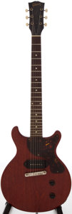Musical Instruments:Electric Guitars, 1960 Gibson Les Paul Junior Cherry Solid Body Electric Guitar,Serial # 0 3673....