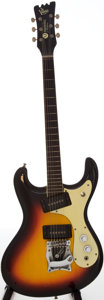 Musical Instruments:Electric Guitars, 1966 Mosrite Ventures Sunburst Solid Body Electric Guitar, Serial #2136....