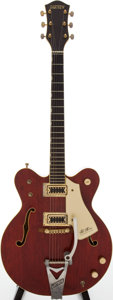 Musical Instruments:Electric Guitars, 1972 Gretsch Chet Atkins Nashville Cherry Semi-Hollow Body ElectricGuitar, Serial # 112040....