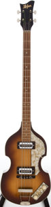 Musical Instruments:Electric Guitars, Late 1960s-Early 1970s Hofner Sunburst Electric Bass Guitar, Serial# 64031....
