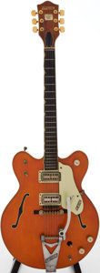 Musical Instruments:Electric Guitars, 1967 Gretsch Chet Atkins Nashville Orange Semi-Hollow Body ElectricGuitar, Serial # 87453....